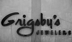 Grigsby's Jewelers (Steve Snodgrass) Tags: art commercial storefront font type script ruston typeface advertise jeweler grigsby