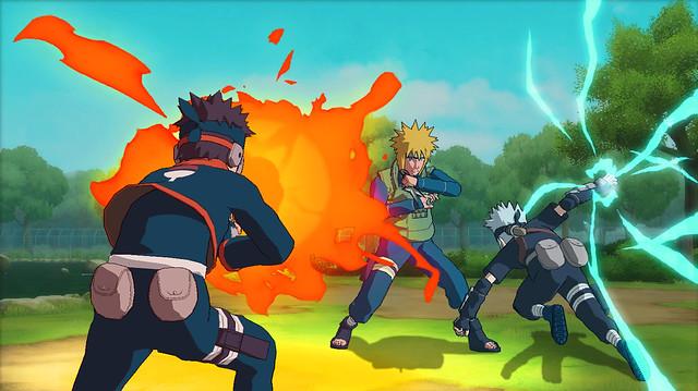 Naruto Shippuden: Ultimate Ninja Storm Generations - Obito, Kakashi vs Minato