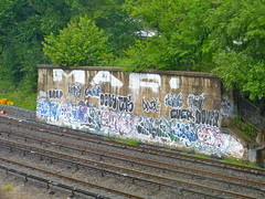 BX TRACKS (BruceLabounty802) Tags: street new york city nyc art graffiti paint map bronx tag roller bomb ever dover cas menos nva