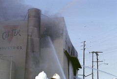 Cal Tek Industries fire 1833 N. Eastern. Mutual Aid with LA County Fire January 1966