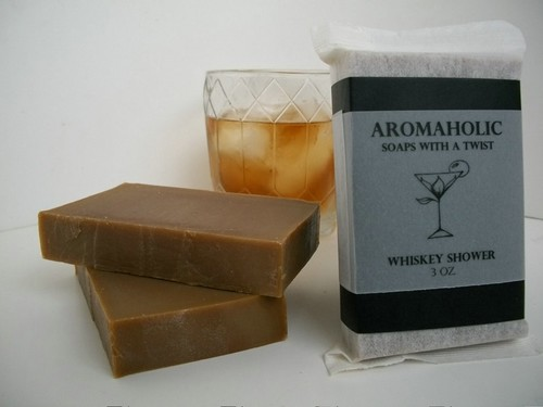 Whiskey Shower soap - scotch scented bourbon bar