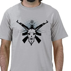 Tribal Animal Skull and Guns Shirt (shaire productions) Tags: art geometric nature lines animal silhouette collage retail shirt illustration insect skeleton skull design cow photo store artwork graphics gun pattern graphic image artistic masculine patterns rifle arts shapes ak style tshirt rifles line artsy photograph weapon guns merchandise illustrator custom shape product item tee vector stylized ak47 apparel imagery edgy zazzle entity sherriethai shaireproductions