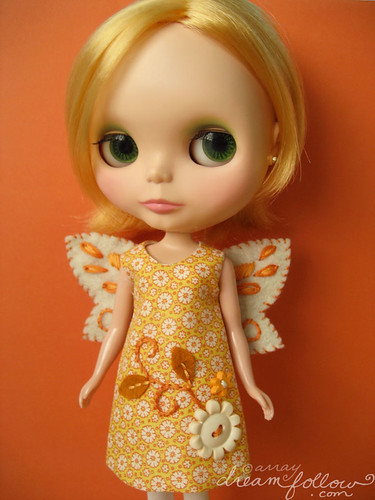 yellow autumn fairy