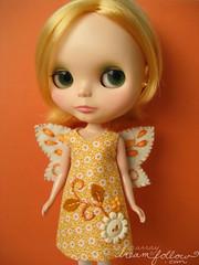 yellow autumn fairy