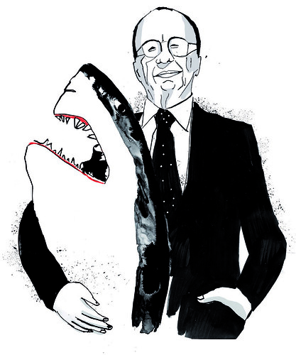Works for newspaper: Shark Murdoch by la casa a pois
