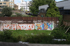 Rah, Teko, Zerx (SReed99342) Tags: uk streetart london graffiti rah teko zerx
