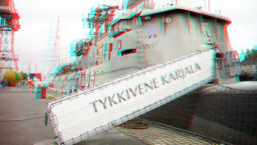 Turku Regatta in 3D anaglyph
