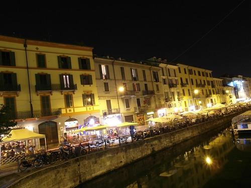 The Lively Naviglio Grande