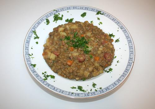 48 - Linseneintopf / Lentil stew - Fertiges Gericht