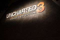 Uncharted 3 logo at the PAX Prime 2011 theater