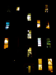 each to their own (zlandr) Tags: street city nyc newyorkcity windows urban newyork streets colors brooklyn night apartment olympus sunsetpark ep1 chrisfarling zlandr