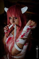 Lucy - Elfen Lied (Streg@tto) Tags: italy lucy blood italia cosplay martina sangue blend elfen lied bende redliz