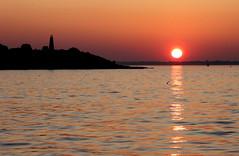 Sunset and Baker's Island Lighthouse _0826 (photoholic1) Tags: ocean sunset sea lighthouse reflection september salem bakersisland salemharbor colorphotoaward harabor
