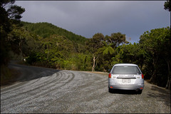 NISSAN Ad / Wingroad rental car at Piroa Falls
