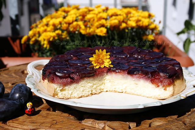 foto immagine torta rovesciata alle susine