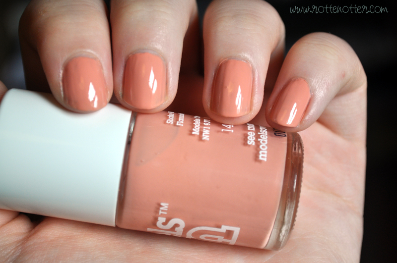 models own peach puff nail polish notd