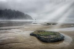 Break in the Clouds (Bart Hickman) Tags: beach rock sand hdr shortsandsbeach