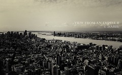 View from an Empire II (isabel_life_is_short) Tags: city usa newyork manhattan ciudad empirestatebuilding ville mgapole isabellecloutier