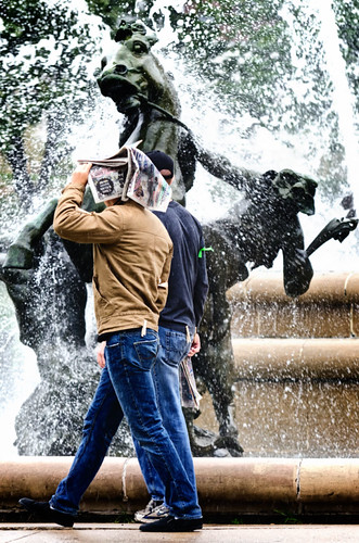 At the fountain 6