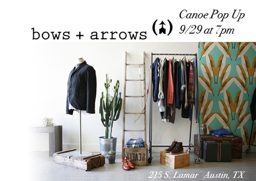 Bows + Arrows Pop Up Shop, 9/29/11