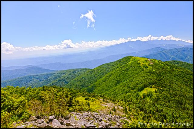 ビーナスライン沿いの山からの眺め