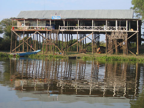 Fishing village on stilts, Cambodia, photo by Jamie Oliver, 2008