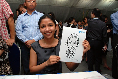 caricature live sketching for Singapore International Water Week Closing Dinner - 19