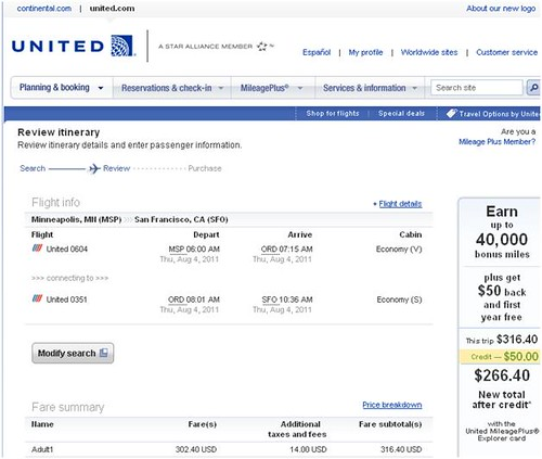 United airlines screen shot 4
