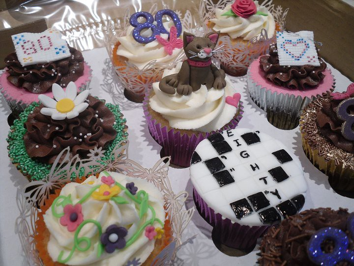 Coolest Cake Ideas Crossword puzzle and cross stitch 80th birthday