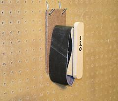Hanging Sanding Belts