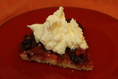 Sugar Plum Tart with Whipped Cream