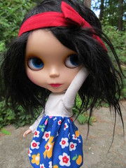 """Noodle """"I am having quite possibly the WORST hairday OF my life!"""" (Lawdeda ) Tags: alpaca by gold one doll all dress ooak best blythe noodle custom dressed thefuture ih bl rbl reroot loveliness middie qpot lawdeda"""