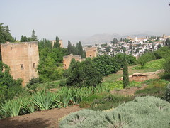 alhambra and sacromonte (danielnanreik) Tags: white mountain black color tree castle river spain catholic south muslim seville andalucia spanish alhambra granada moor fortress medievial
