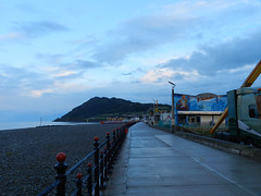 Bray Seafront on Saturday evening, before Natty Wailer gig