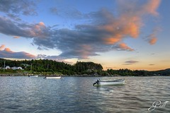 Little Boats of Newfoundland (gwhiteway) Tags: trees sunset summer canada clouds newfoundland boats fishing little motor colliers fishery outport TGAM:photodesk=slowshutter