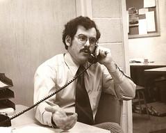 chris 1970s (Alida's Photos) Tags: sepia vintage office phone longisland teacher scanned 1970 1970s brentwood eastjuniorhighschool eastjh eastjrhs brentwoodhs