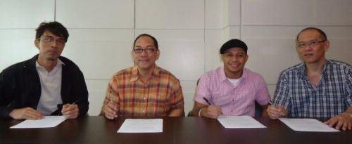 Luke Mejares + Sony Music Executives