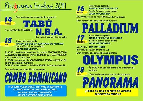 A Laracha 2011 - Festas de San Roque - programa