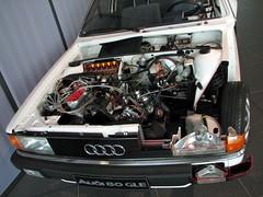 Audi 80 (Alexander Gorlin) Tags: auto car museum germany deutschland audi fahrzeug cutaway audi80 ingolstadt wagen schnittmodell cutawaymodel