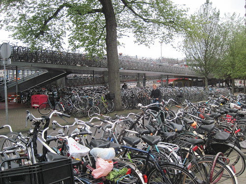 Bike Rack at Amsterdam Centraal