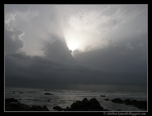 Cloudy sky - Anjuna Beach