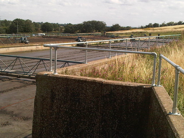 Kee Klamp Railing am Canwick Sewage Treatment Works