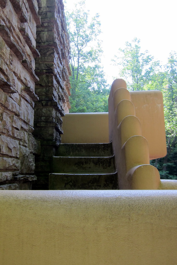 PA - Mill Run: Fallingwater - Stairs from West Terrace