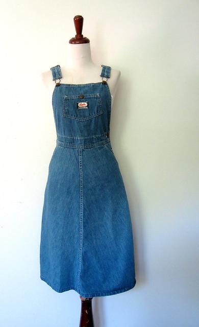 Osh Kosh B'Gosh Blue Jean Jumper, vintage 70s