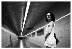 looking back (gorbot.) Tags: barcelona blackandwhite bw underground subway raw tube roberta dng f19 leicam8 digitalrangefinder ltmmount silverefex voigtlander28mmultronf19