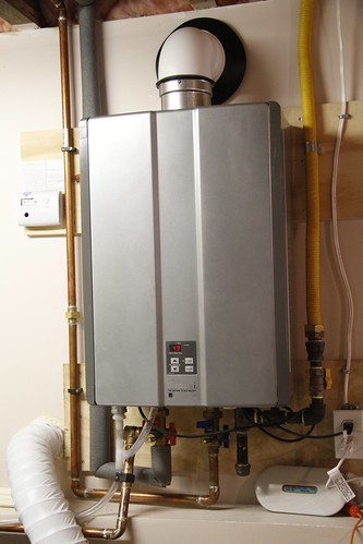 On demand hot water heater in Tina