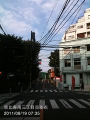 朝散歩(2011/8/19 7:25-7:40)