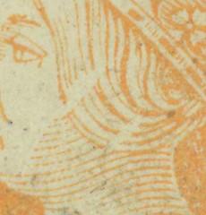 cuatro-cuartos-1860-13-4-PV-det (rubiera) Tags: barcelona spain stamps cartwheel 1860 stampcollecting cancels ruedadecarreta