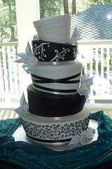 Black and White Topsy Turvy Wedding