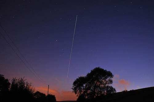 5 Composite images of tonights ISS Pass
